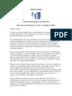 Alonso, Dora - Carta Autobiografica Al Patito Feo