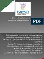 PROYECTO DE RECICLADO PARA ESCUELA SECUNDARIA