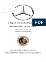 Mercedes-Benz Service Centre Training Report