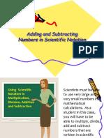 Add Subtract Scientific Notation