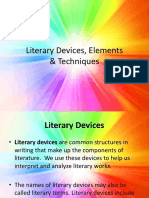 Literary Devices, Elements & Techniques (1)