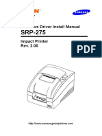 Windows Driver Install Manual SRP-275