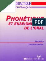 Guimbretière - Phonétique Et Enseignement de l'Oral