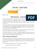 SAP Security Quick Guide