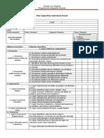 Plan Especifico Individual Anual Ejemplo