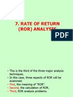 07 Rate of Return Analysis