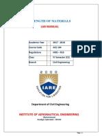 IARE Strength of Materials Laboratory