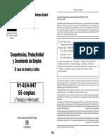 Aa Gallart - Competencias, Productividad y Crecimiento Del Empelo