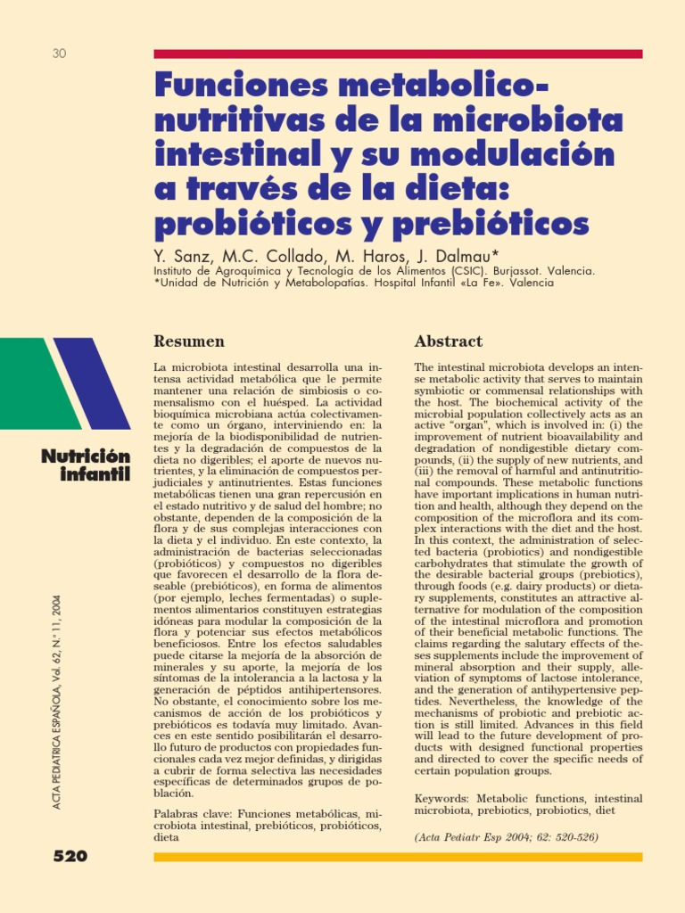 Funciones Metabolicas de La Microbiota - Tripa flora - Enzima