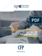 Brochure CFP en Tecnicas de Negociación