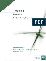Gestión de RRHH - Lectura 1 a -Lectura Complementaria Módulo 1