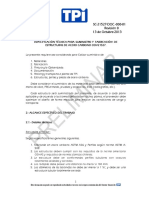 TPI CHILE - ODV 21527 Especificaciones Para Estructuras Acero Carbono, Preliminar