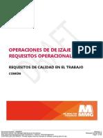 MMG Requisitos de Calidad Del Trabajo - Operaciones de Izaje- Requisitos de Operacionales.docx - 16688097