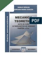 Mecanica II - Szolga V.