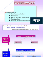 Phase transformation of Fe-Fe3C