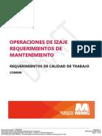 MMG Requisitos de Calidad Del Trabajo - Operaciones de Elevación - Requisitos de Mantenimiento - 16699093