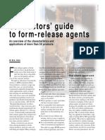 Concrete Form Release Agents