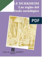 Durkheim - Las Reglas Del Metodo Sociologico[1]