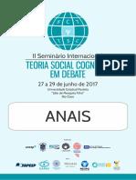 Anais II Teoria Social Cognitiva em Debate 2017