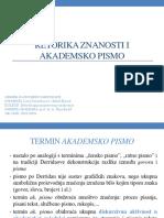 Derenčinović Horvat Retorika i Akademsko Pismo