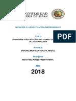 Articulo Cientifico Cambios Climaticos (Jaén)