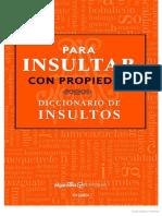 Montes de Oca, Pilar - Para Insultar Con Propiedad. Diccionario de Insultos
