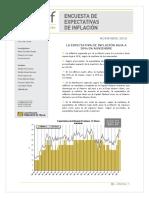 Informe de Expectativa de Inflación Nov 18'