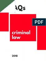 Criminal Law Faq