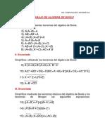 Practica Calificada de Algebra de Boole