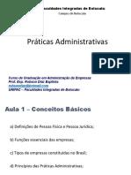 Prácticas Administrativas - Botucatú