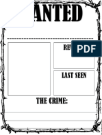 Wanted Poster For Vowel Team Rule Breakers
