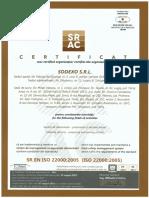 Certificat ISO 22000-2005-Sistem de Management Al Sigurantei Alimentului