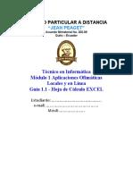 Modulo INF-1 Guia 1.3 Hoja de Calculo Excel (1ro)