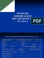 Ficha de Observacion Del Docente en El Aula