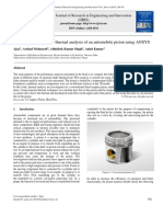 Numerical Validation of Thermal Analysis of an Automobile Piston Using ANSYS