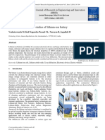 Electrical and Structural Studies of Lithium-ion Battery