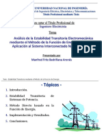 EE60 - Clase 7 - Estabilidad Transitoria - Aplicación Del PEBS en El SEIN (Manfred Bedriñana)
