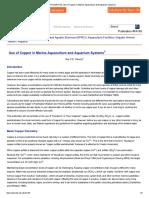 FA165_ Use of Copper in Marine Aquaculture and Aquarium Systems