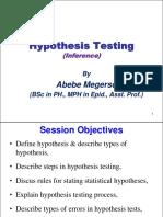 3. Hypothesis Testing