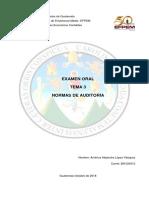 Tema 3 Normas de Auditoría
