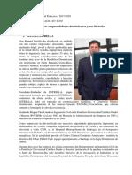 Emprendedores de RD y Emprendimientos Sociales.