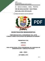 Trabajo Monográfico sobre normas de tránsito en el distrito de Breña