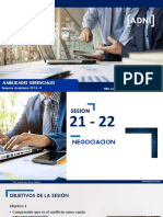 Sesiones 21 - 22 Negociacion