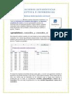 Aplicaciones Estadísticas Descriptiva e Inferencial