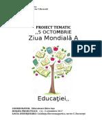 Proiect educational - Ziua Educației