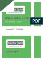 2010May31 Green Gap Index