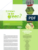 Being Green as Way to Stop Urban Sprawl