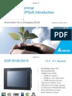 Delta HMI Seminar DOP-B & DOPSoft Introduction