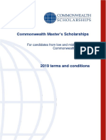 Common Wealth Scholarship Requirements