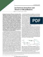 Fürst Et Al, 2014 - Disease Associations Between Honeybees and Bumblebees as a Threat to Wild Pollinators